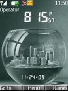 Clock Aquarium Mobile Theme