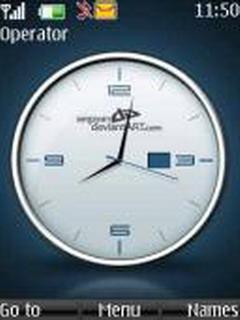 Cool Clock Mobile Theme