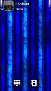 Blue 3D Lines Mobile Theme