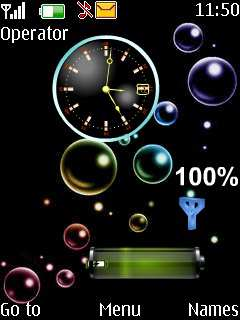Bubble Clock Tone Mobile Theme