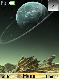 3D Dark Space Mobile Theme