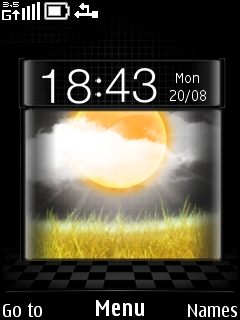 Weather Clock Mobile Theme