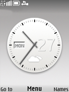 White Clock Mobile Theme