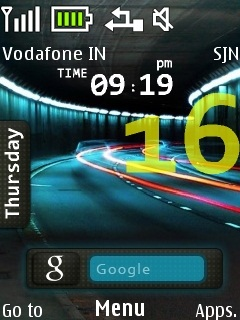 Tunnel Neon Road Mobile Theme