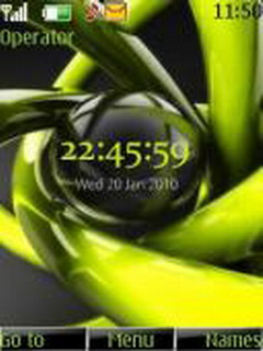 Green Clock Mobile Theme