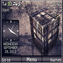 Cube Drawing Mobile Theme