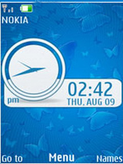 Blue Fly Clock Mobile Theme