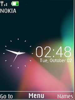 Jelly Bean Clock Mobile Theme