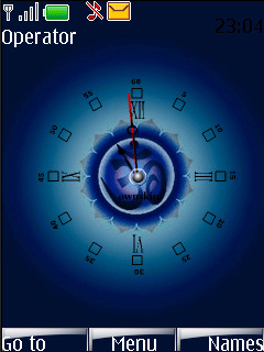 Swf Blue Art Clock Mobile Theme