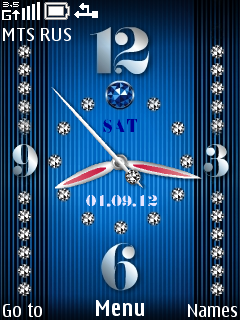 Sapphire Clock Mobile Theme