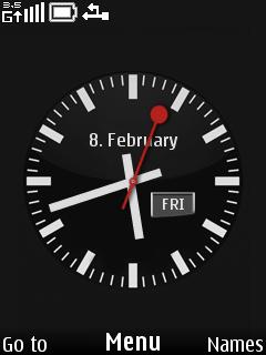 Nokia Simple Clock Mobile Theme