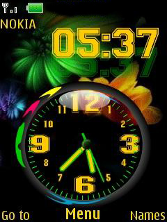 Nokia Dual Clock Mobile Theme