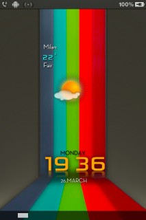 3D Colors Clock IPhone Mobile Theme