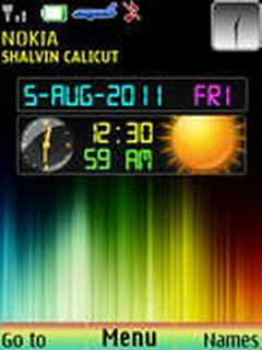 Colorful Dual Clock Mobile Theme