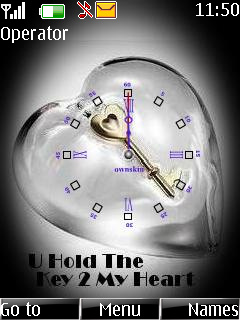 Swf Lovekey Clock Mobile Theme