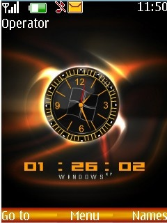 Analogue Clock Mobile Theme