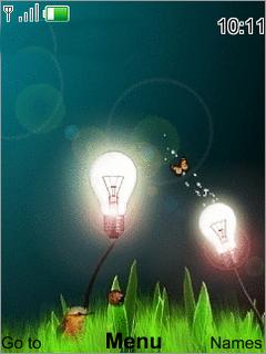 Animated Lights Mobile Theme