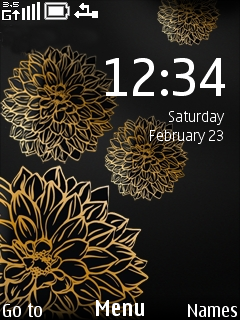 Brown Flower Clock Mobile Theme