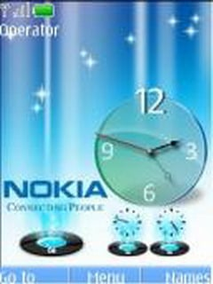 3d Glass Clock Mobile Theme