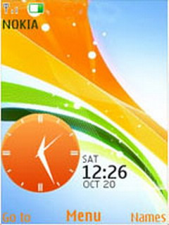 Colorful Ribbons Clock Mobile Theme