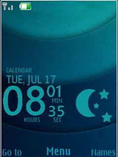 Adept Live Clock Mobile Theme
