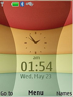 4D Flash Lite Clock Mobile Theme