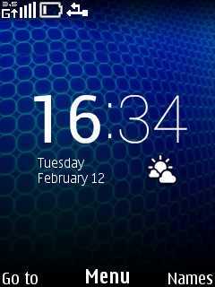 Blue Widget Clock Mobile Theme