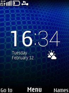 Blue Widget Clock Mobile Theme