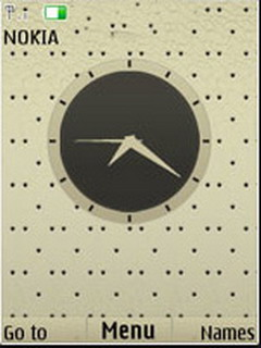 Black Dots Clock Mobile Theme