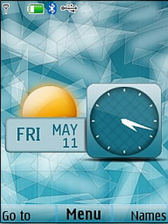 Abstract Glass Clock Live Mobile Theme