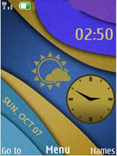 Color Saturation Clock Mobile Theme