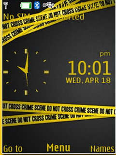 Crime Line Clock Mobile Theme