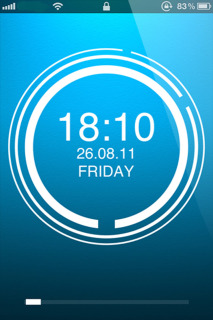 Clock Circles IPhone Theme Mobile Theme