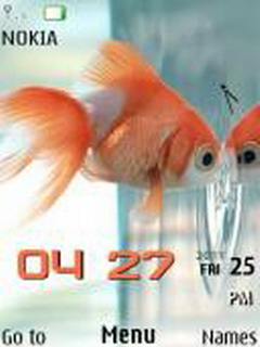 Fish Clock Mobile Theme