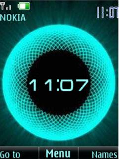 Animated Clock S40 Theme Mobile Theme