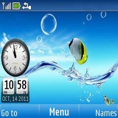 Fish Clock Aquarium Mobile Theme