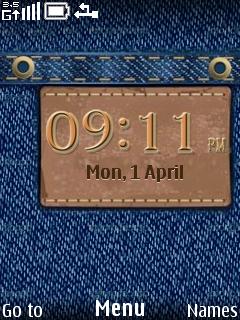 Jeans S40 Clock Theme Mobile Theme