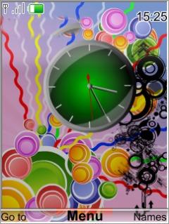 Summer Clock Mobile Theme