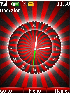 Animated Red Clock Mobile Theme