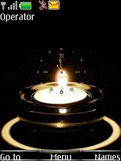 SWF Flame Clock Mobile Theme