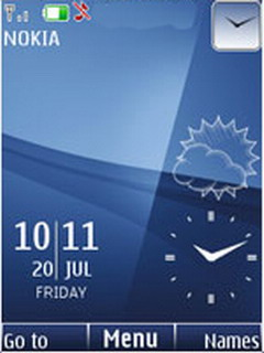Bluish Live Clock Mobile Theme