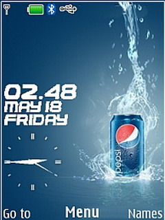 Pepsi Clock Mobile Theme