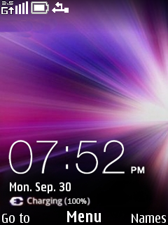 Micromax Ninja Clock Mobile Theme