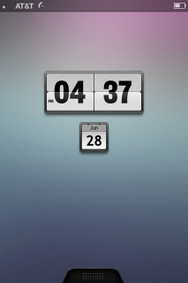 MIUI Clock And Calendar IPhone 4  Mobile Theme
