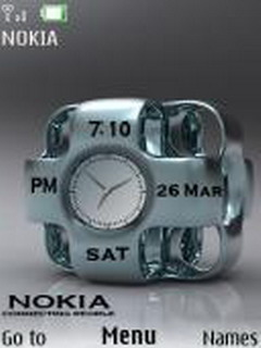 Nokia Duel Clock Mobile Theme