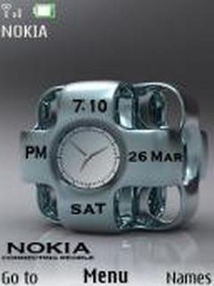 Nokia Duel Clock Mobile Theme