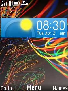 Rainbow Clock Lines Mobile Theme
