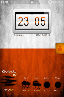 LS Orange IPhone Theme Mobile Theme
