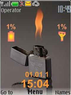 Fire Clock Mobile Theme