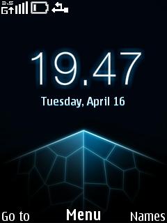 Blue Nokia Clock Mobile Theme